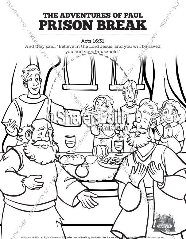 Paul and Silas Coloring Pages Print Faith Church Websites