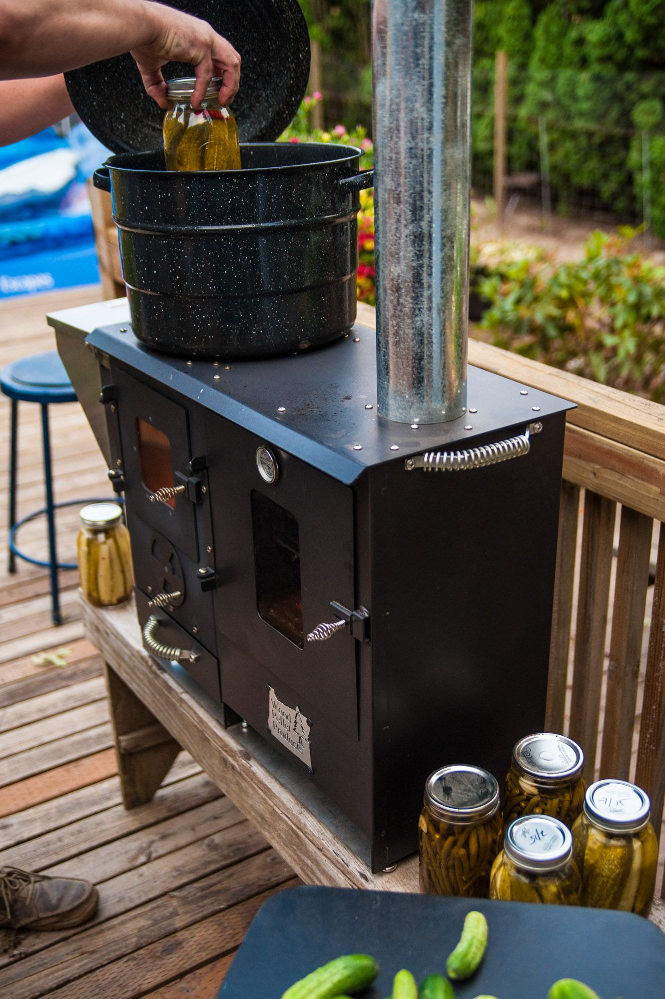 Wood pellet, gravity fed outdoor cook stoves & patio ...