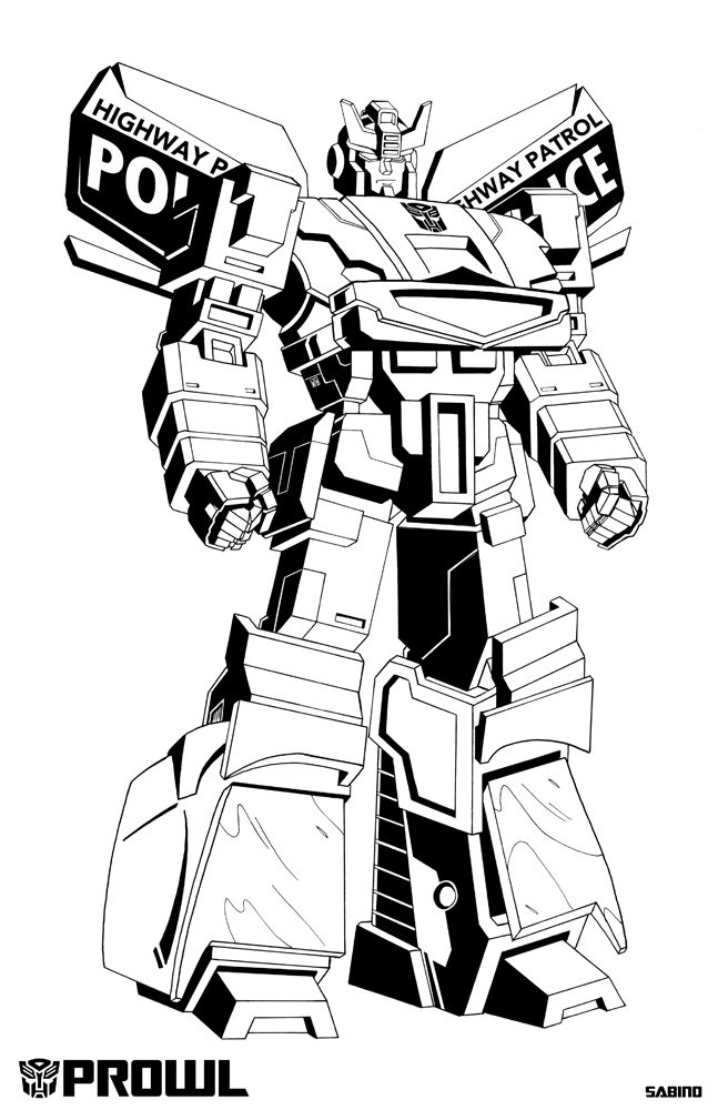 G1 Prowl Transformers Coloring Pages Transformers Drawing Transformers