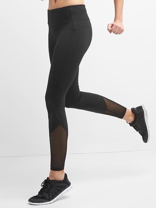 192c82d93e Gap Womens Gapfit Blackout Gfast Shine High Rise Leggings Black ...