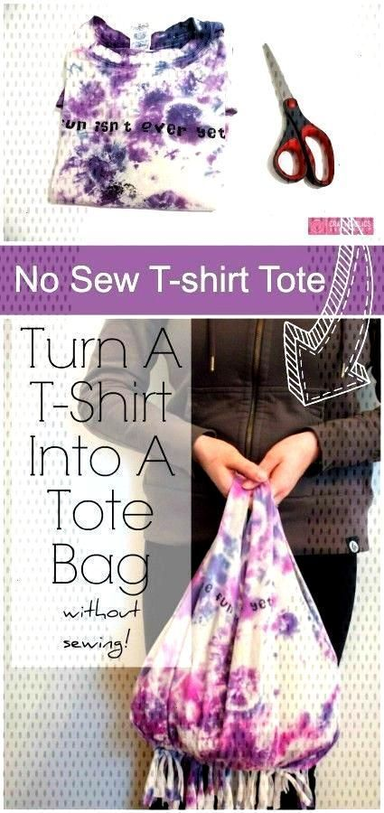 #tutorial #tshirt #nosew #bag No-Sew T-Shirt Bag Tutorial No-Sew T-Shirt Bag Tut...#bag #nosew #tshirt #tut #tutorial