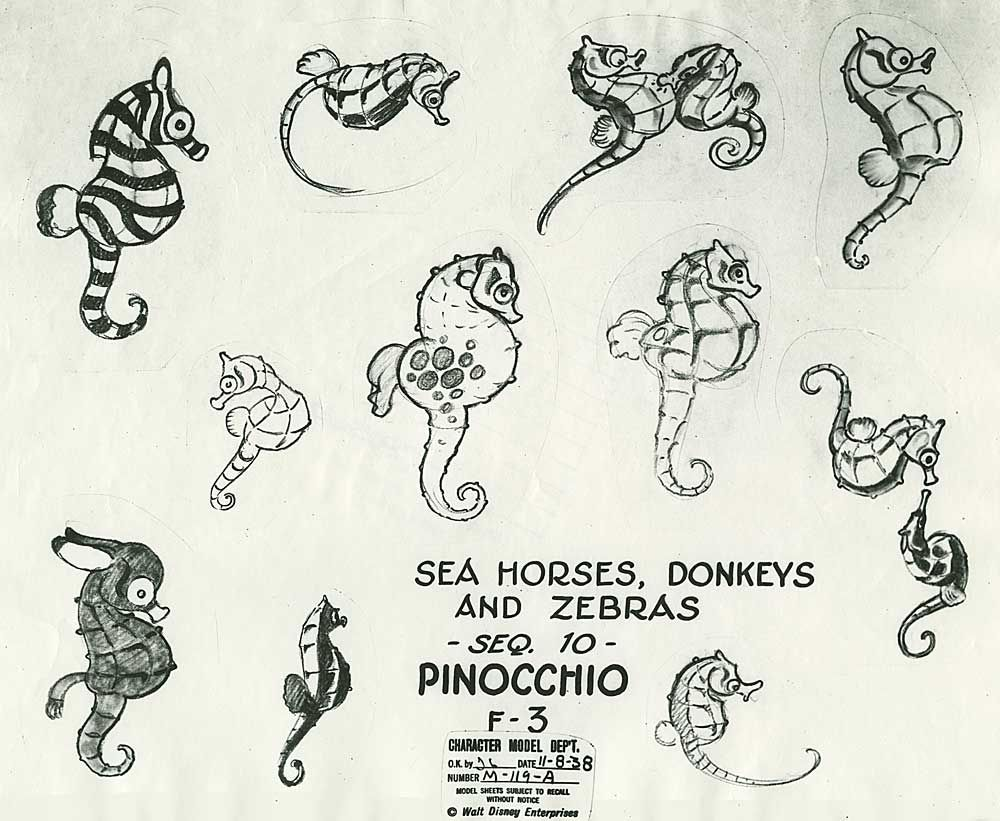 Pinocchio the art of disney seahorses pinterest dessin dessin personnage and illustration - Dessin mouton ...