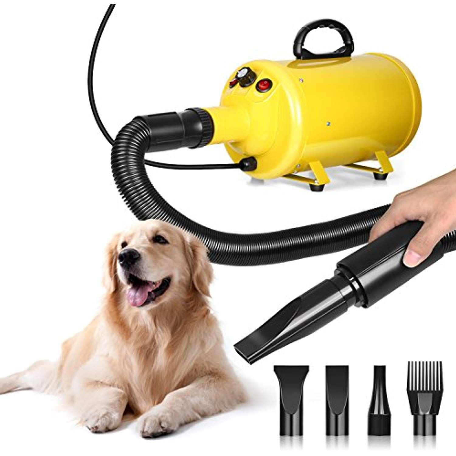 Amzdeal Dog Dryer 2800w 3 8hp Pet Blow Dryer Grooming Hair Blower