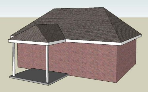 hip roof patio cover plans. Illustration Of A Typical Hip Roof Patio Cover With Tie-in On Plans .