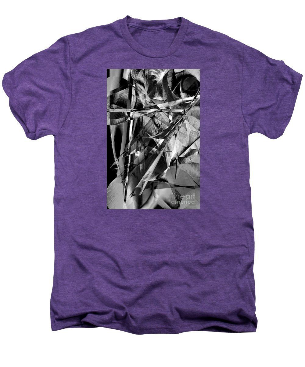 Men's Premium T-Shirt - Abstract In Black And White