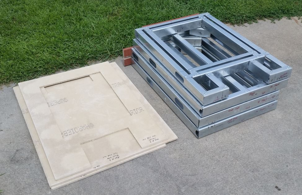 2 FT DIY Rapid Panel Kit Outdoor Kitchen Module With Precut Cement Board  Fits Appliances To