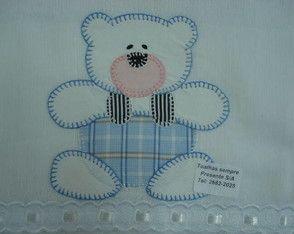 Molde Urso Patchwork Applique De Bebe Coisas De Criancas