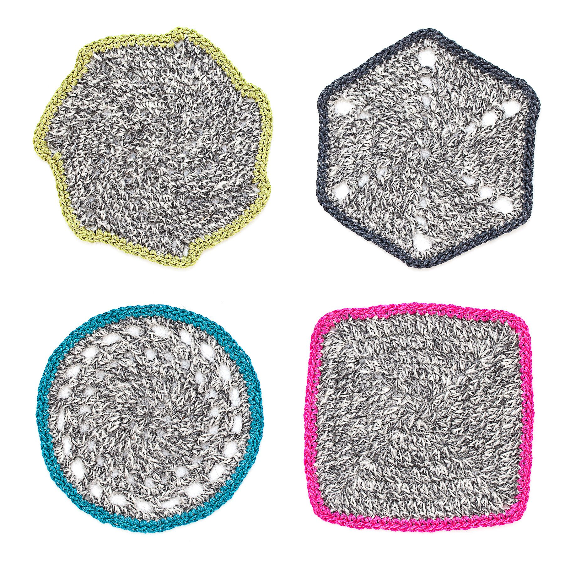 Crochet coasters set of 4 heather gray corda crochet crochet coasters set of 4 heather gray bankloansurffo Images