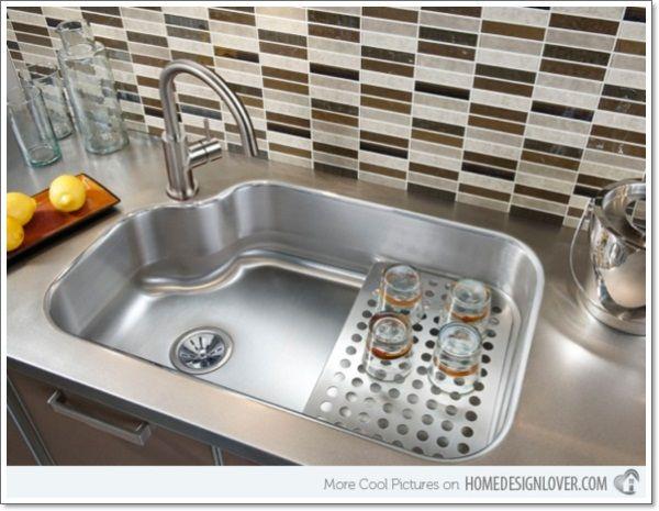 25 Corner Kitchen Sinks That Gives You Space Kitchen Sink Design Kitchen Sink Remodel Contemporary Kitchen Sinks
