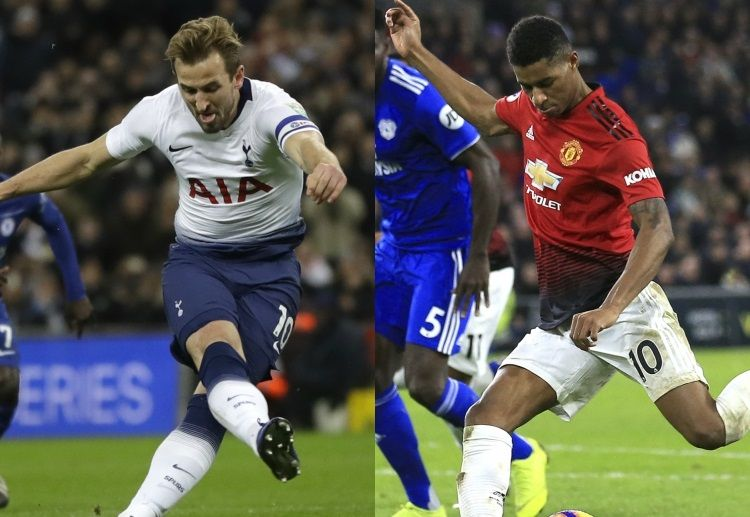 Harry Kane vs Marcus Rashford liga Inggris Tottenham