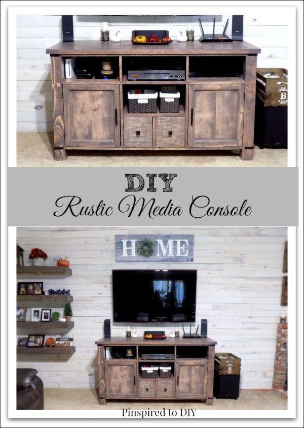 Diy Rustic Media Center Tv Stand Diy Furniture Tv Stand Easy