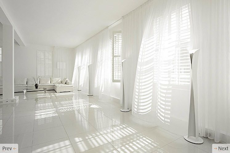 White Flowing Curtains Cortina Voil Living Room Rooms Dark