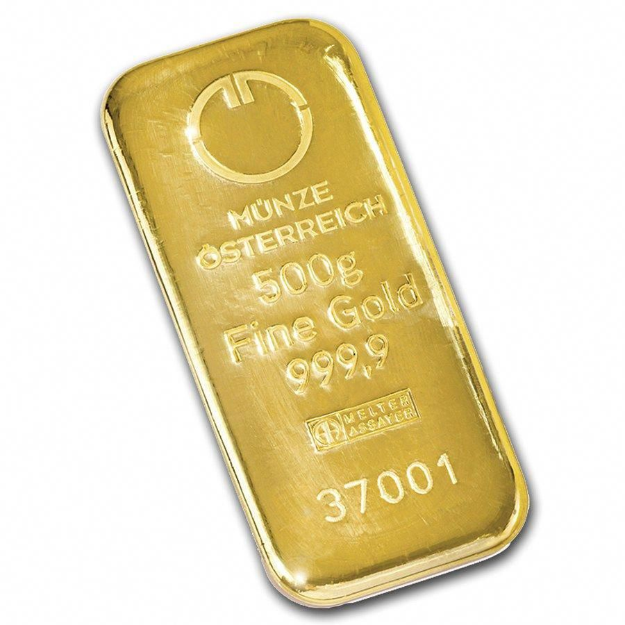 500 Gram Gold Bar Austrian Mint Cast Goldinvestment Gold Bullion Coins Gold Purchase Gold Bullion