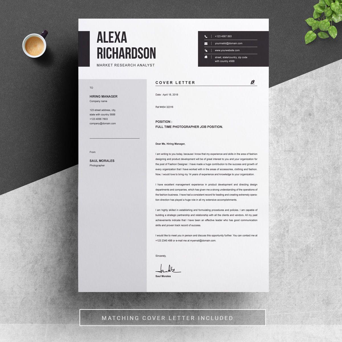 Alexa resume template 83022 cv template resume design