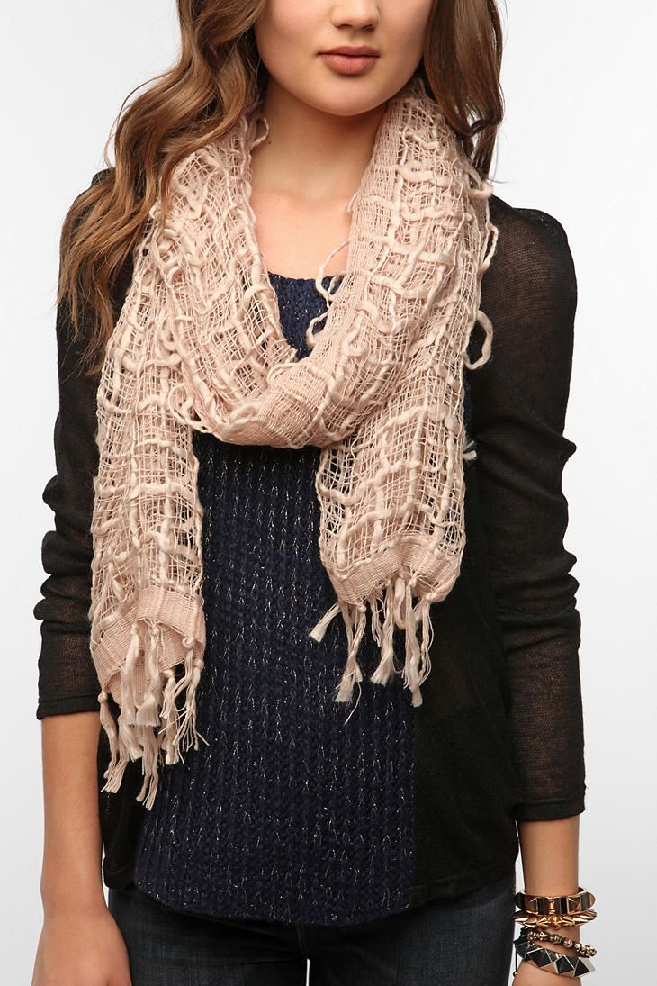 Staring At Stars Open Weave Scarf   #UrbanOutfitters