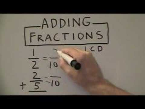 how to find the lcd in fractions