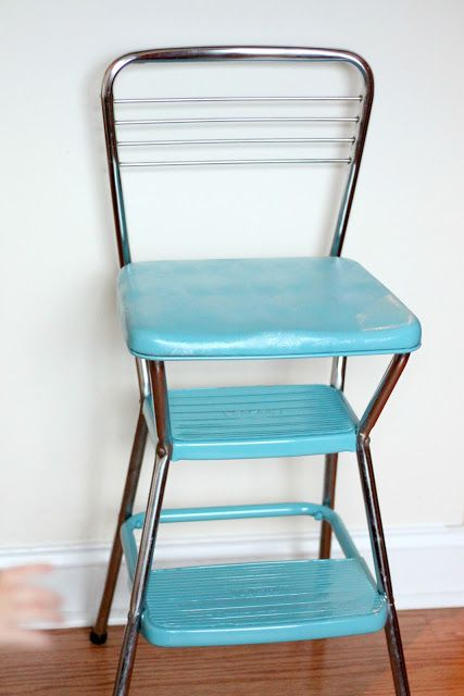 Vintage Step Stool Makeover Love Stitched Craft Ideas
