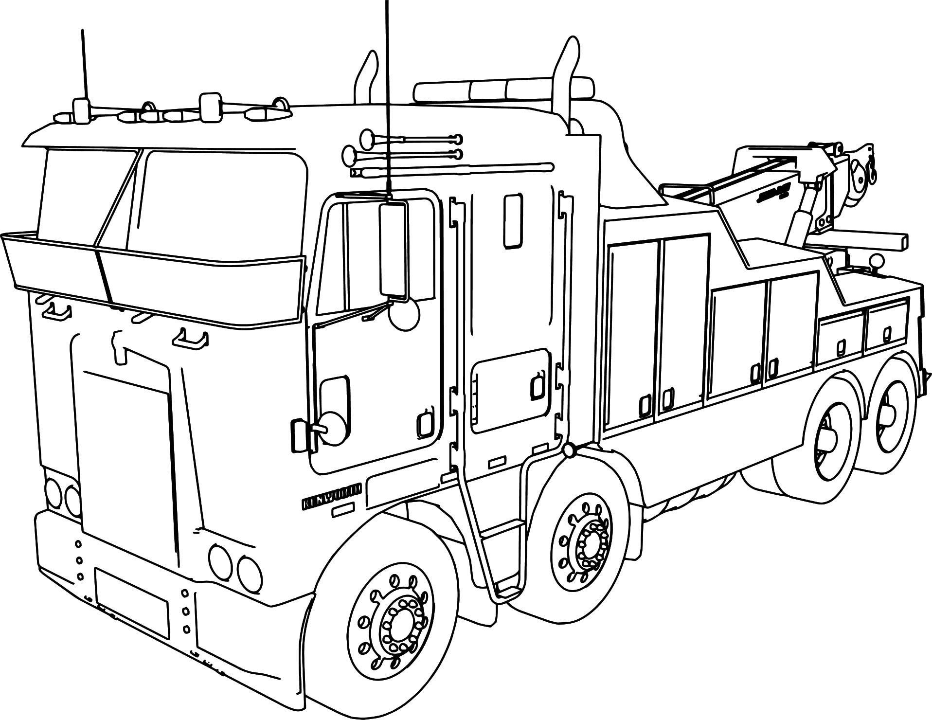 Coloring Kenworth Pages Truck 2020 Camion Dibujo Camiones
