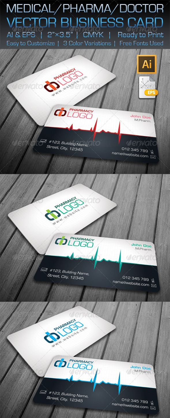 Medical / Pharma / Doctor Business Card | Business cards, Print ...