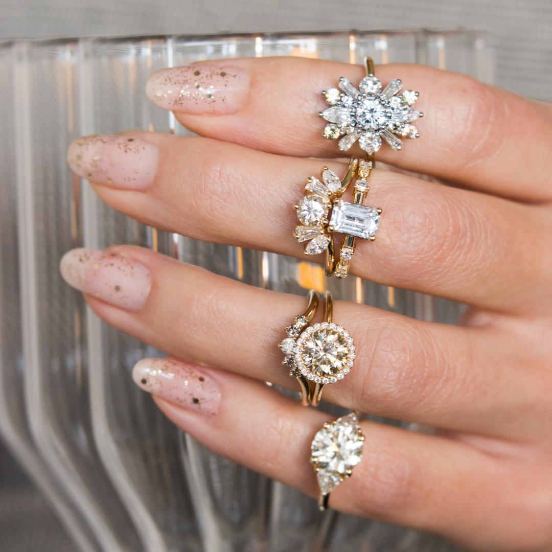 Bridal dreams! Unique diamond engagement rings, White