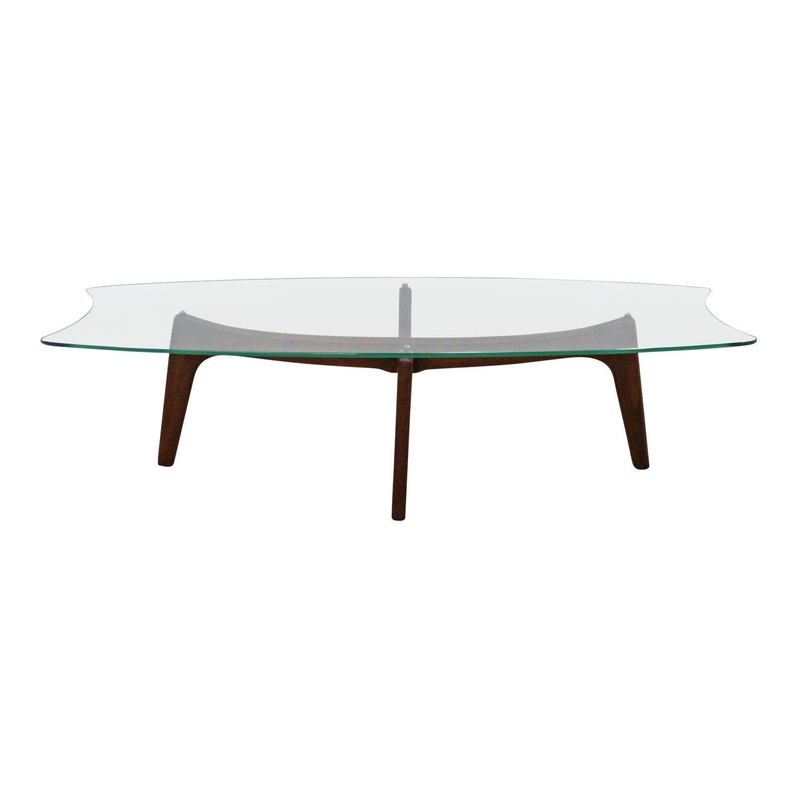Mid Century Modern Adrian Pearsall Stingray Walnut Glass Coffee Table Coffee Table Glass Coffee Table Danish Modern Design [ 1600 x 1600 Pixel ]