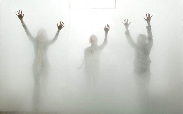 Antony Gormley's new work 'Blind Light' in the Hayward Gallery, South Bank, 2007