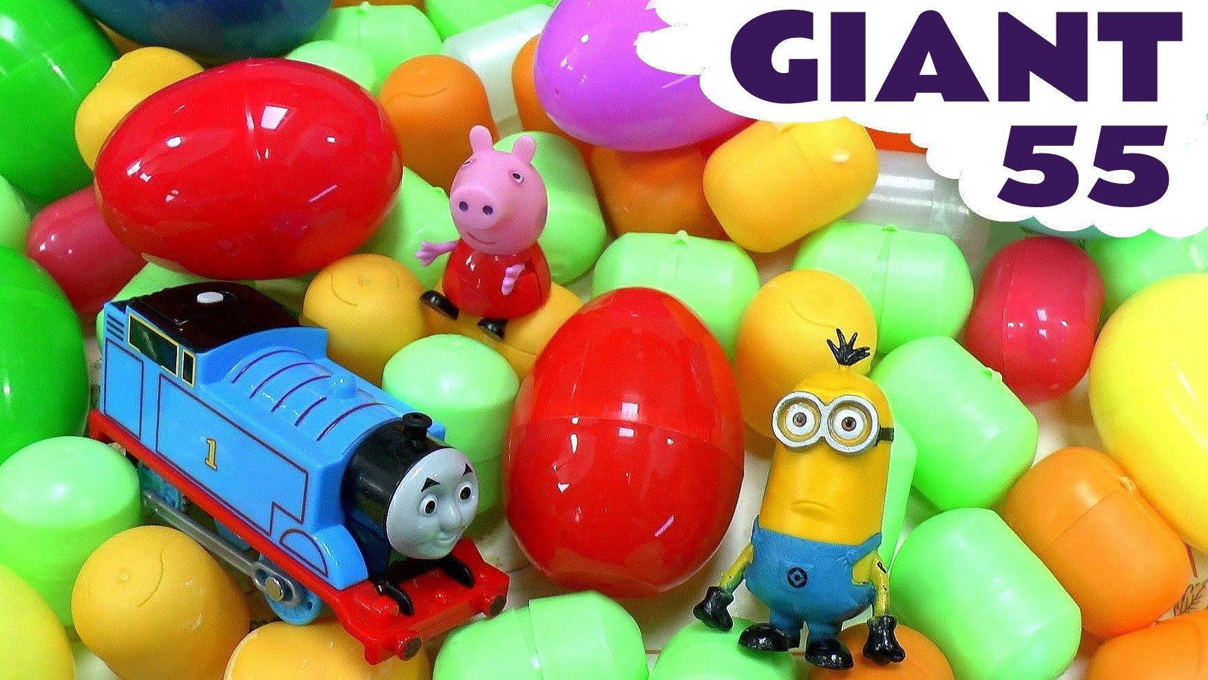 Giant Surprise Egg Peppa Pig Thomas And Friends Minions