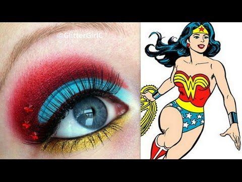 Wonder Woman Makeup Tutorial Youtube Channel Http Full Sc Sk3bia Wonder Woman Makeup Halloween Women Makeup Halloween Makeup Clown