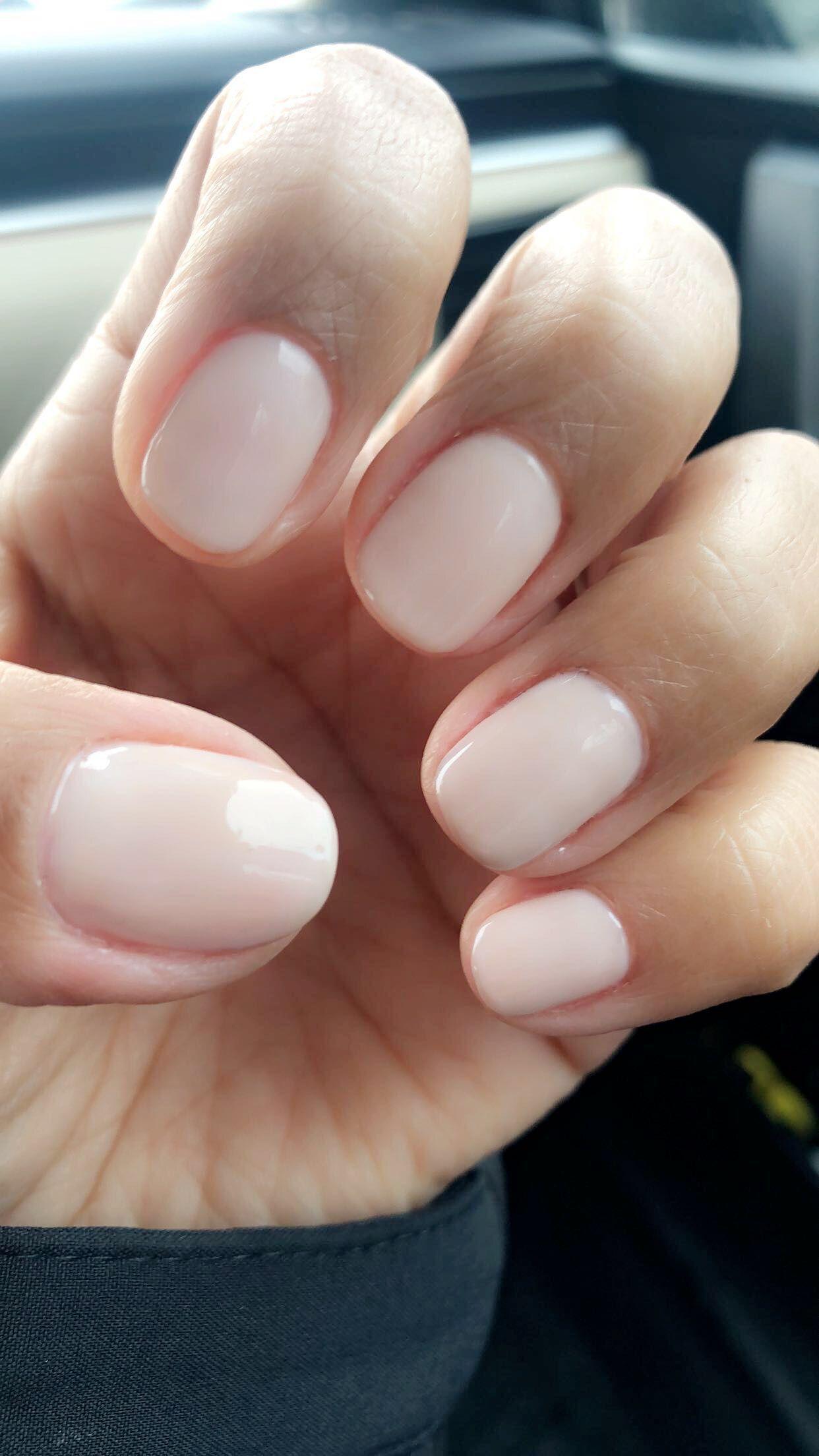 Natural nails~Opi Gel Polish Funny Bunny - coffin #nails ...