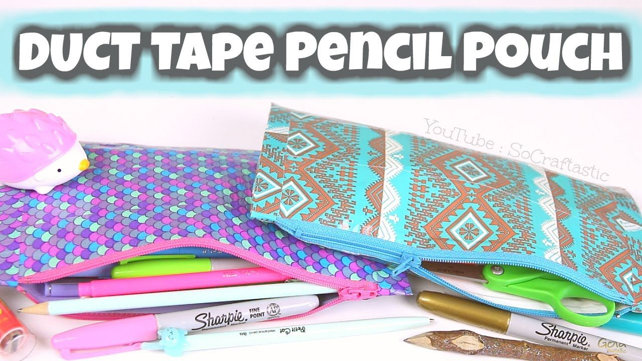 Watch How to Make a Duct Tape Pencil Pouch video