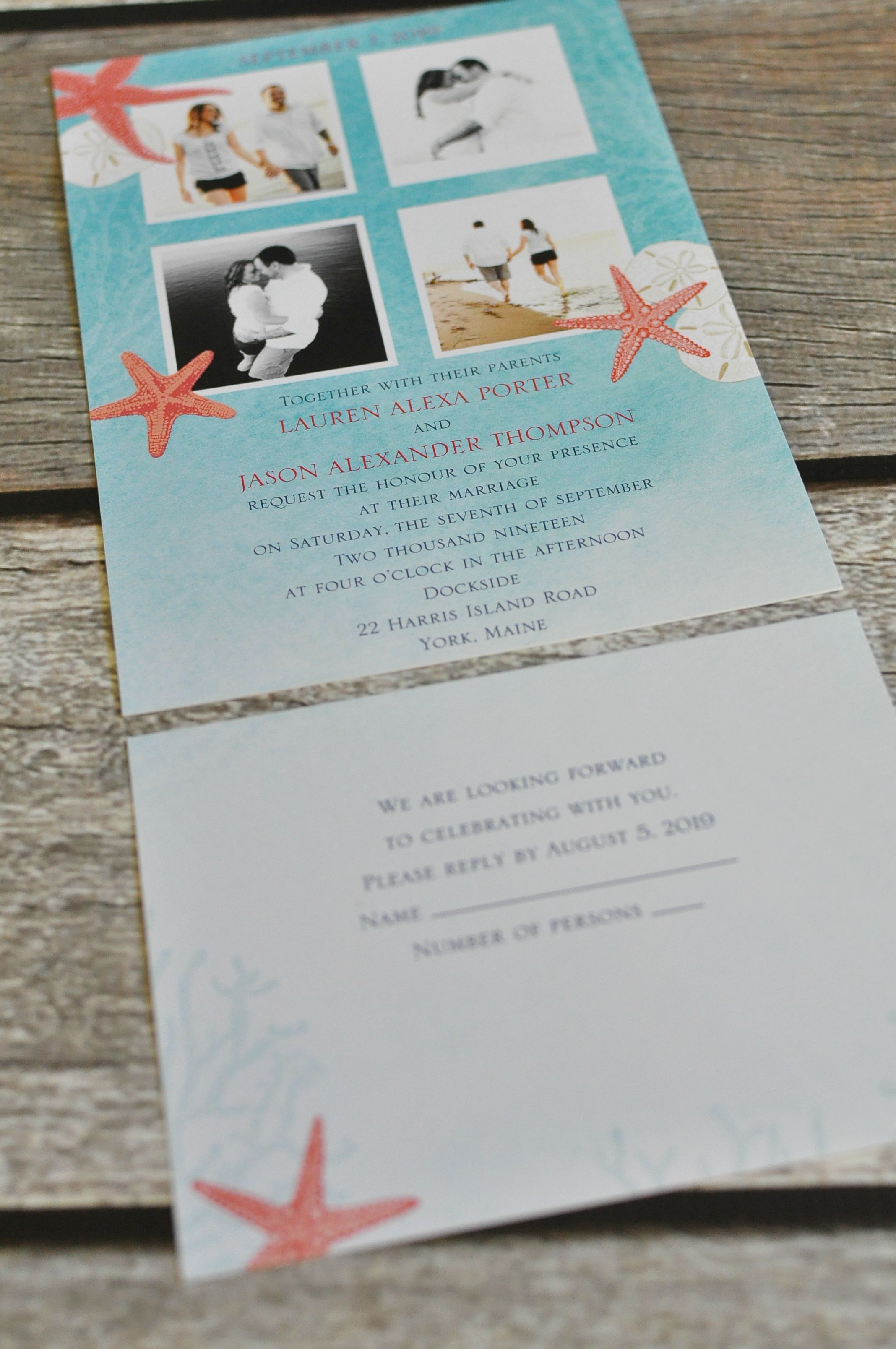 Ocean Adventure - Invitation with Free Respond Postcard | wedding ...