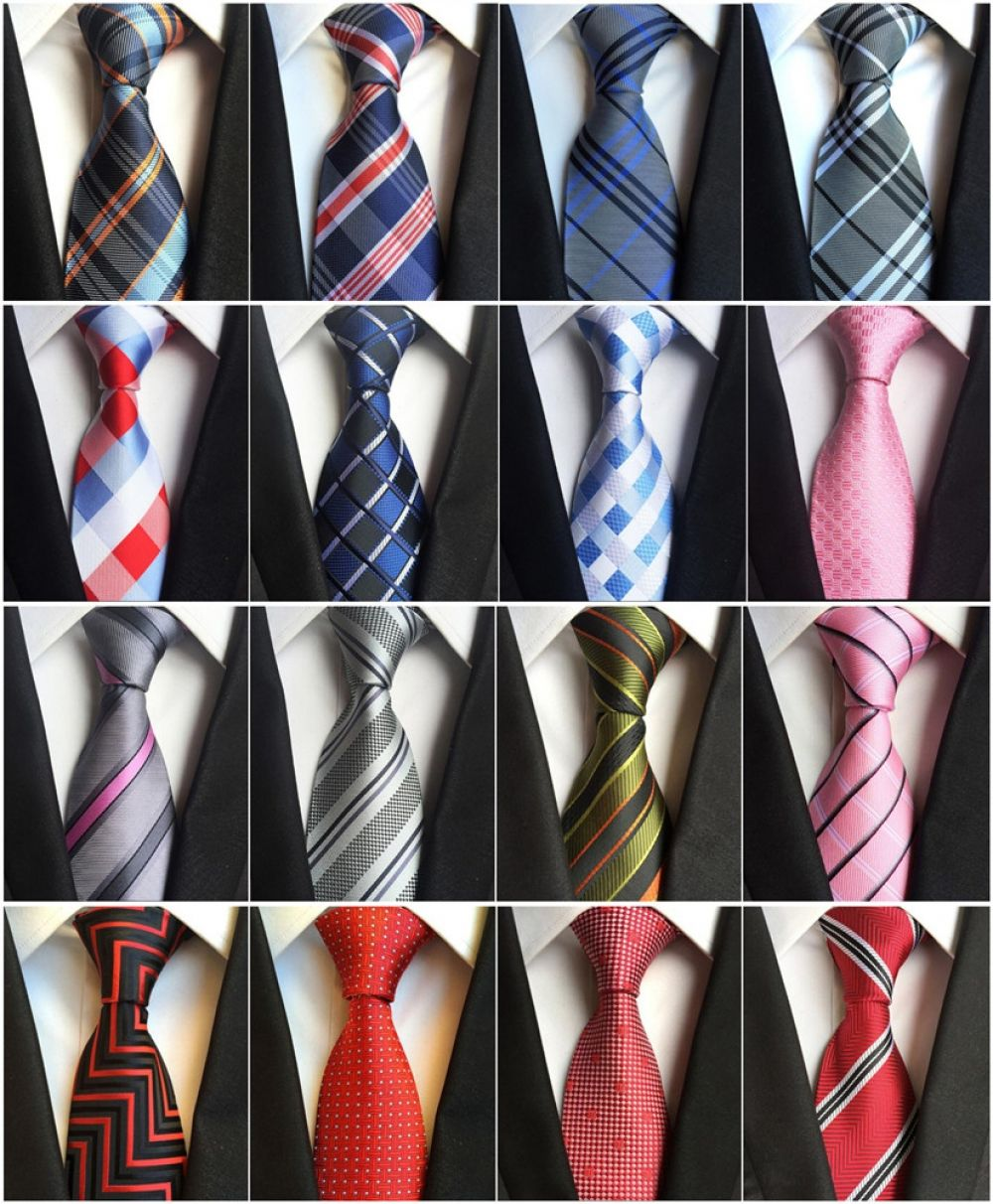 Formal Party Conference Suit Neckties Mens Polyester Slim Neckties