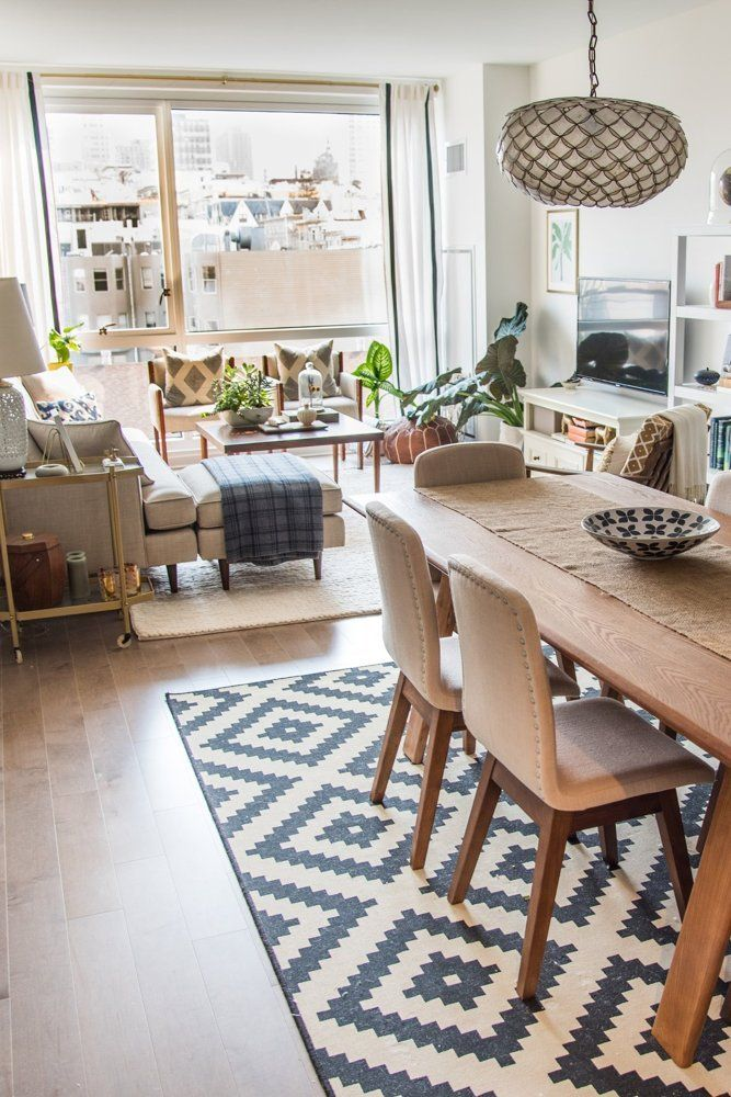 Lounge Dining Room Ideas Part - 25: House Tour: A Sophisticated Mixed U0026 Matched Rental. Living Room ...
