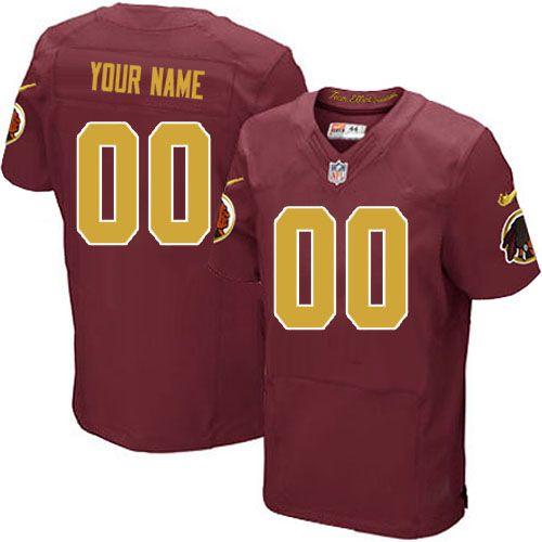 e7f9784593d Nike Washington Redskins Customized Burgundy Red/Gold Stitched Elite Men's NFL  Jersey