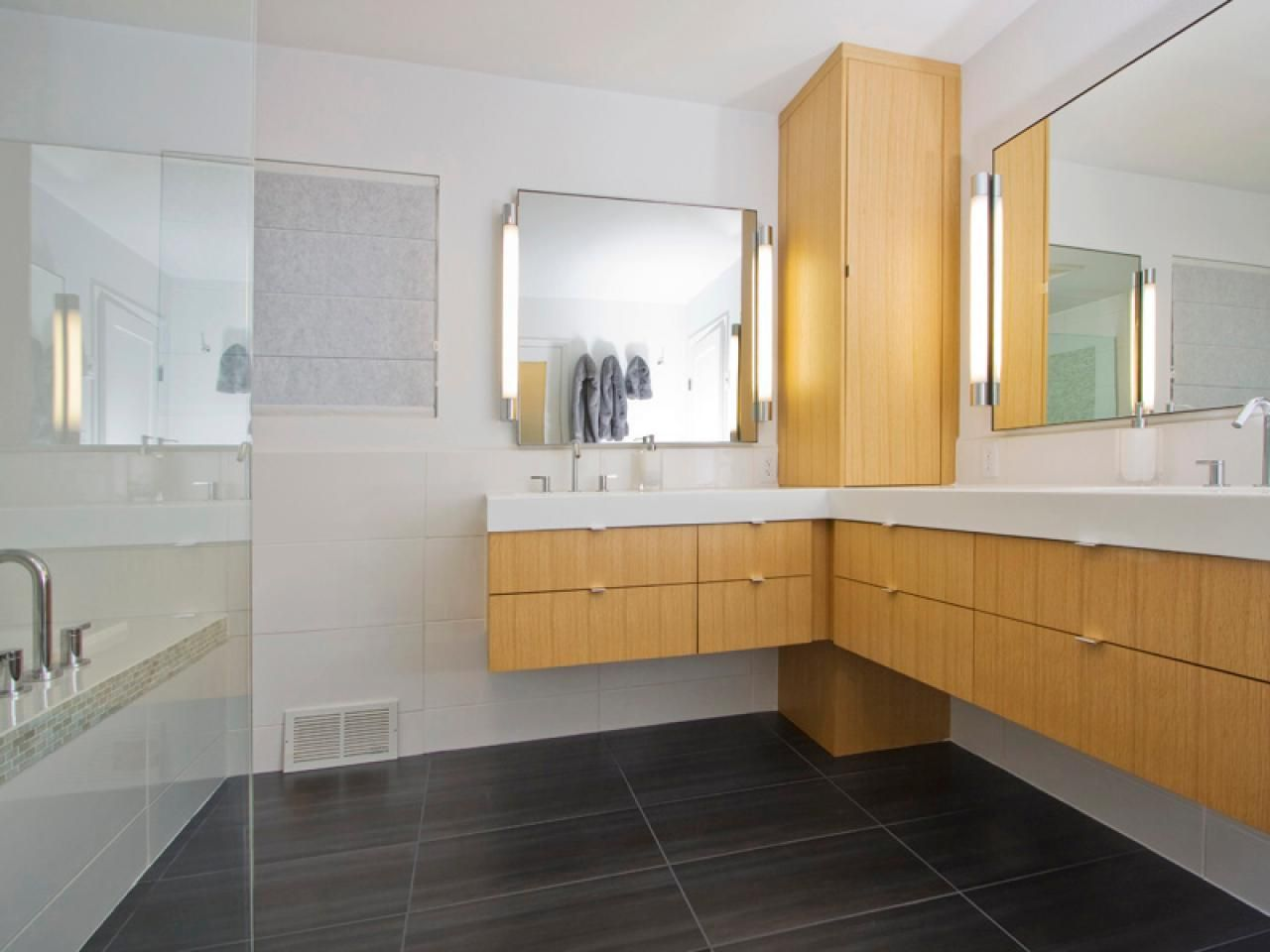 Master bedroom bathroom layout  Design a Bath That Grows With You  Shower seat Grab bars and