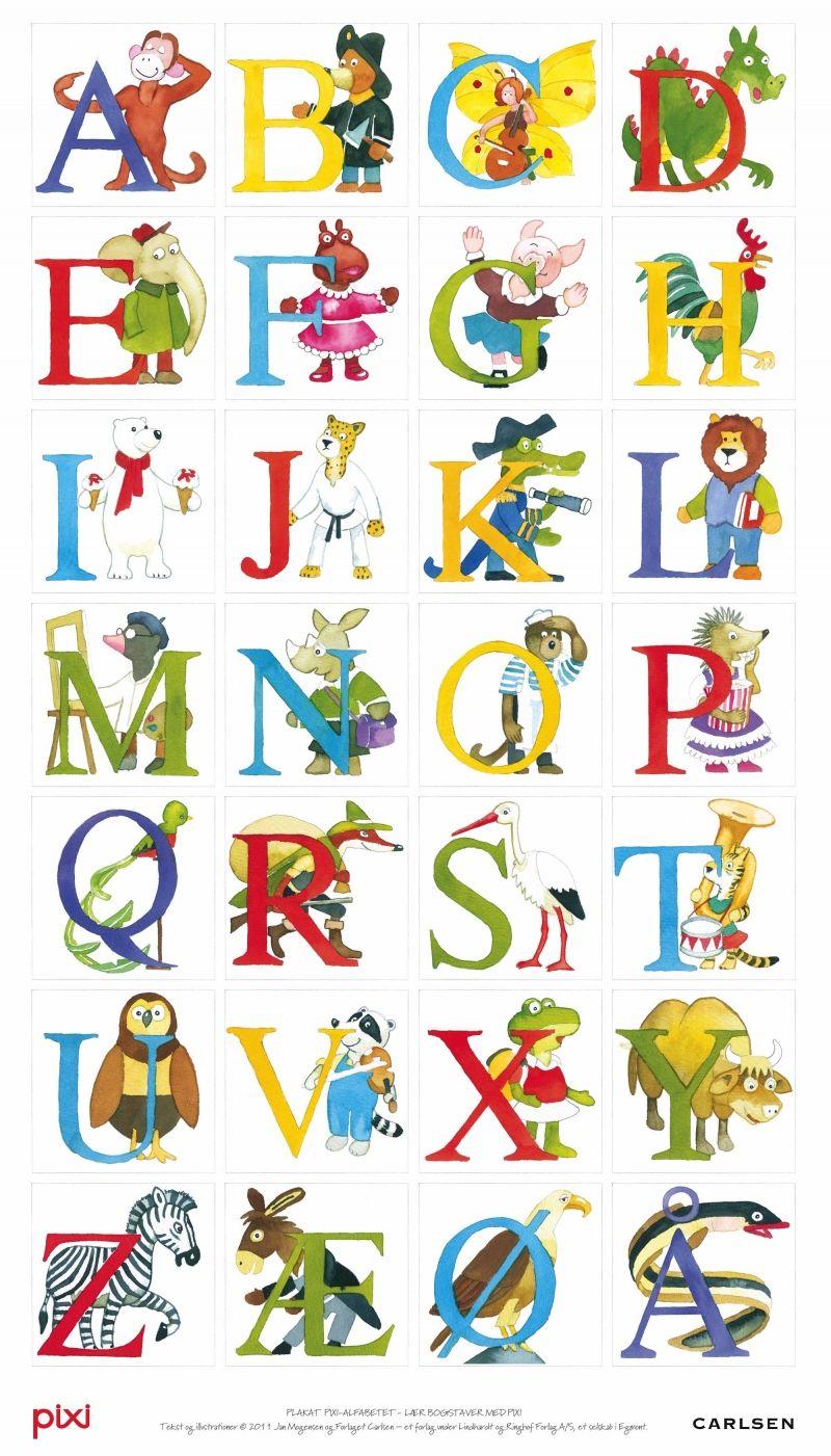 Pixi Alfabetet Plakat 133195 Jpg 800 1401 Forskoleaktiviteter Alfabetet Bokstaver