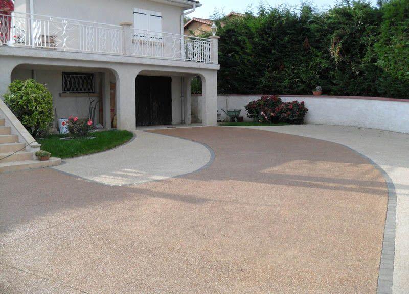 Prix au m2 du béton désactivé aménagement extérieur Pinterest - peinture exterieure sol beton