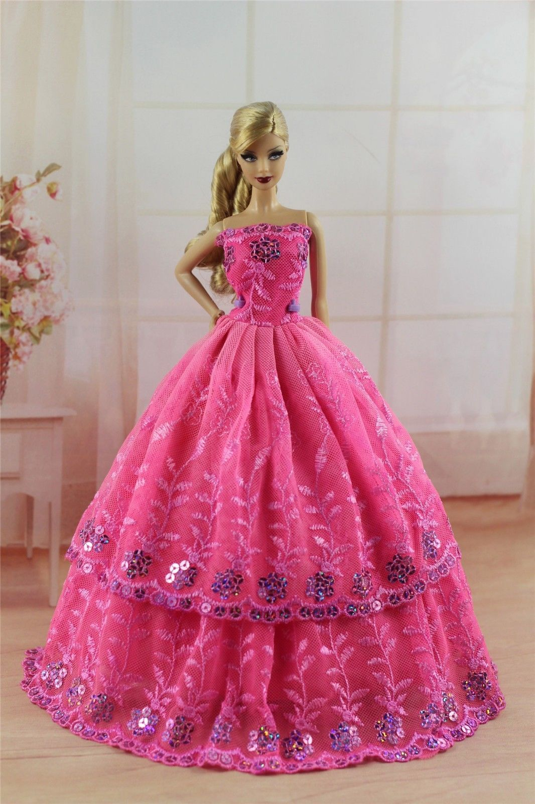 New 4 PCS Princess Dress/Wedding Clothes/Gown For Barbie Doll S303 ...