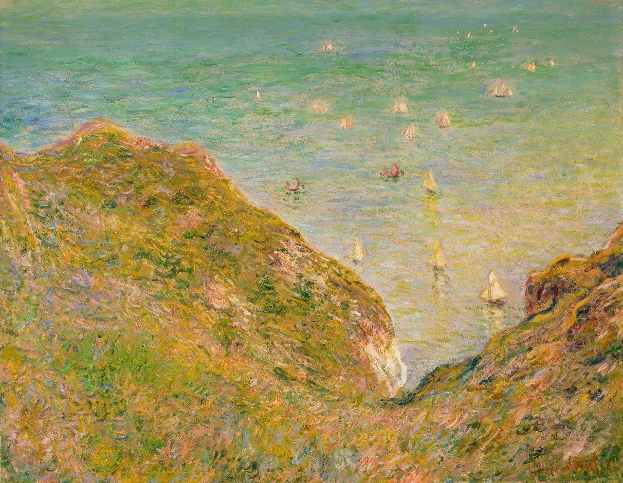 1882 Claude Monet On the cliff at Pourville,bright weather(MOMA)(65 x 81 cm)