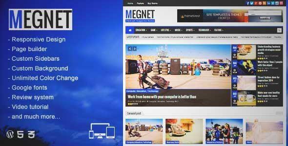Download and review of Megnet - WordPress Magazine theme, one of the ...