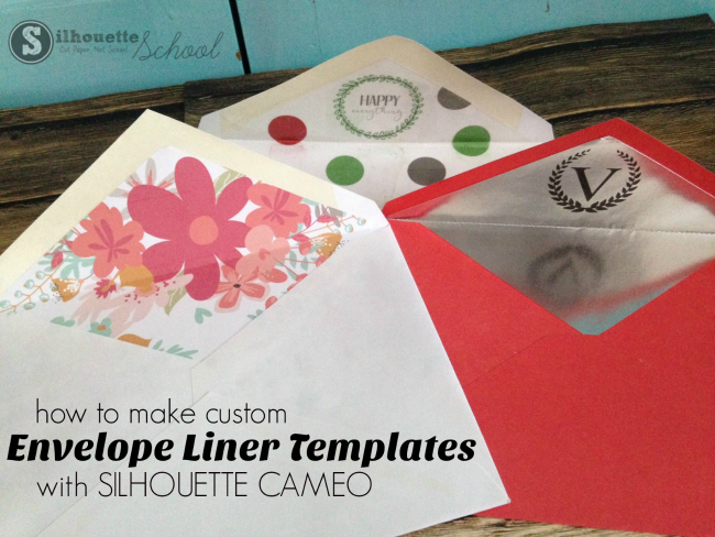 Progetti Per Silhouette Cameo : How to make an envelope liner template with silhouette studio and