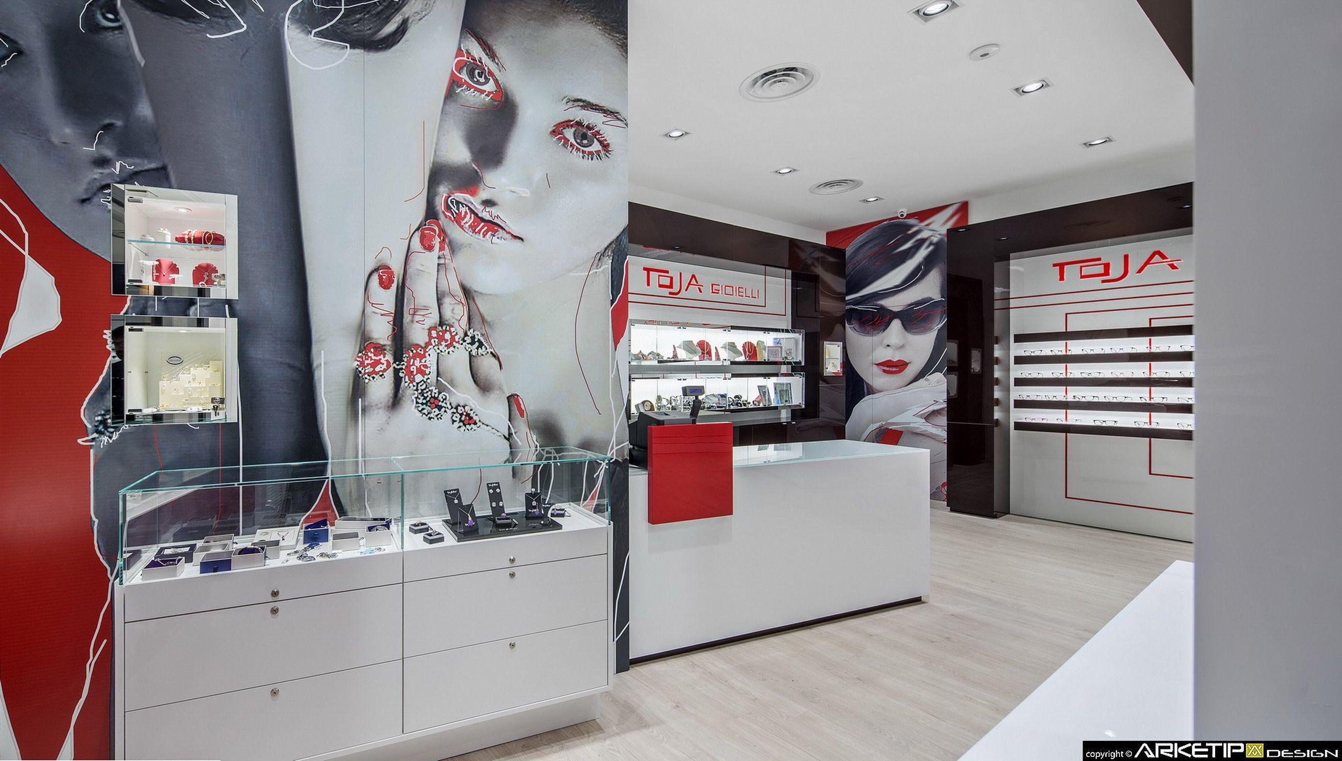 Arredo Casa Feletto Umberto.Retail Design Arredamento Negozi Di Ottica Project By Arketipo