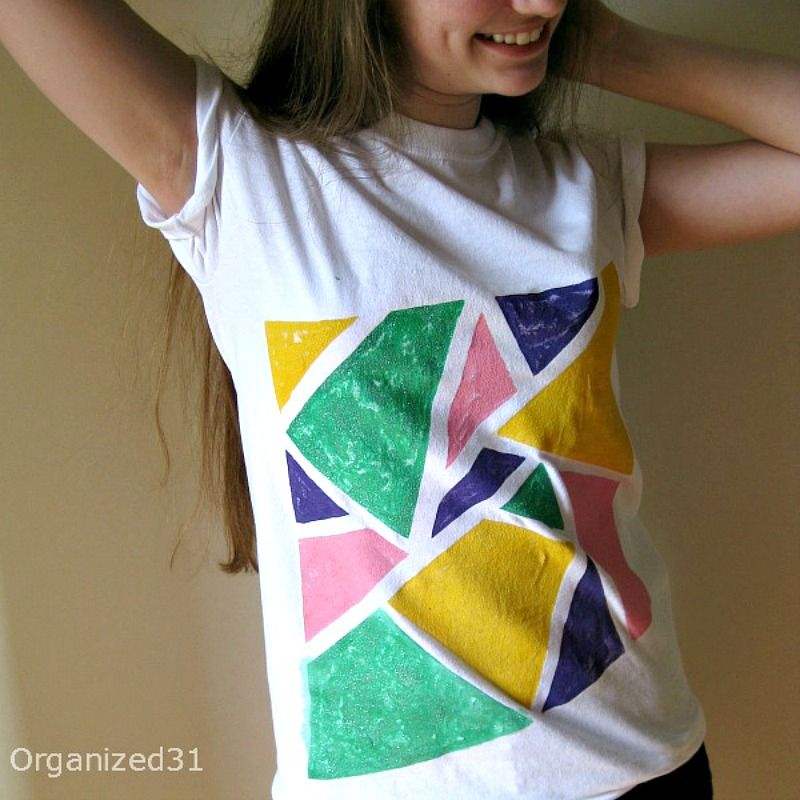 ae533fb3ce 80s Style Painted Tees - Have fun painting 80's inspired t-shirts with  fabric paint