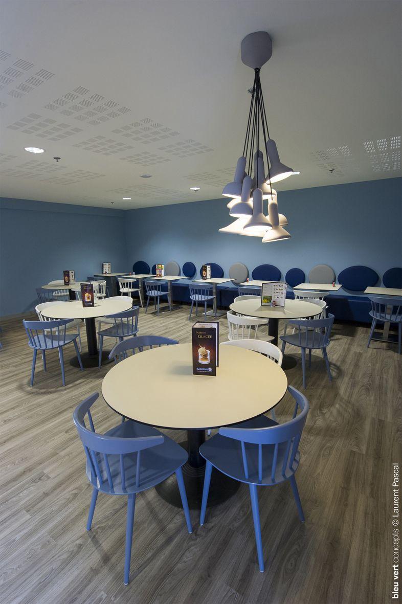E Leclerc Ibos Amenagement Cafeteria C Bleuvertconcepts Bleuvertconcepts Cafeteriadesign C Laurentpascal Design Cafeteria
