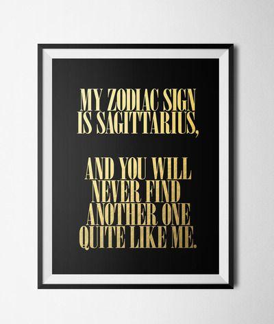 """Sagittarius Like Me Digital 8x10"""" Print"""