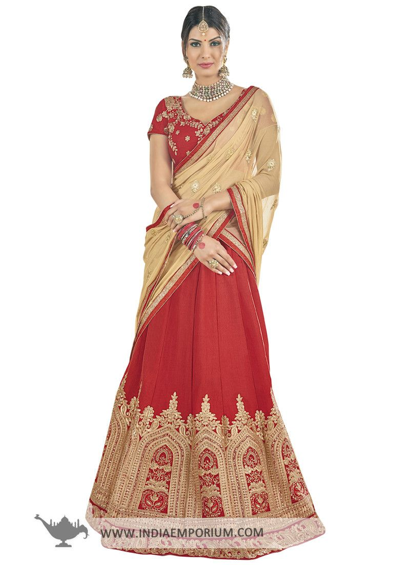 17b2dc5ff4 Gorgeous Red & Beige Lace and #Stone Work #Lehenga #Choli | Made to ...