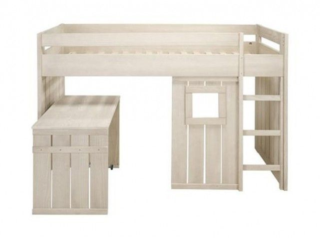 Lit cabane enfant chambre n 2 pinterest mezzanine for Lit woody wood