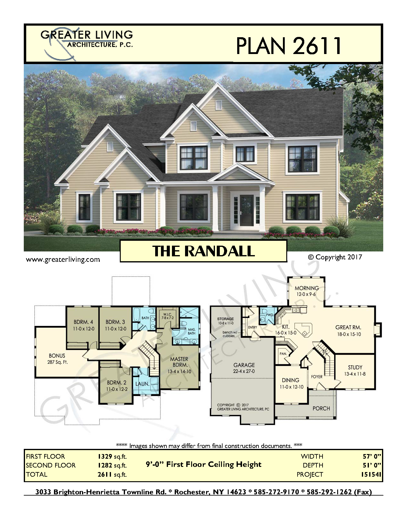 plan 2611 the randall two story house plan greater living