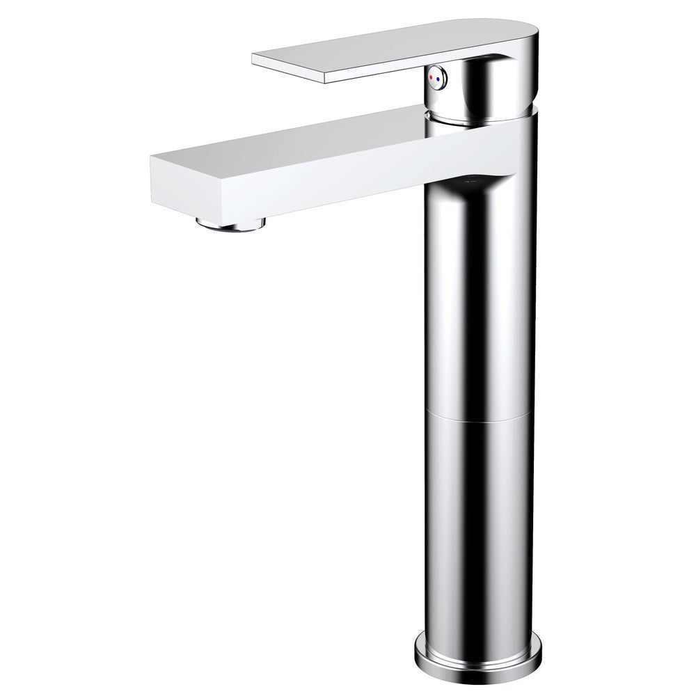 Photo of Adrian Style Polished Chrome Solid Brass Single Hole Lever Bathroom Vanity Lavatory Faucet (Adrian Polished Chrome Bathroom Faucet), Gray
