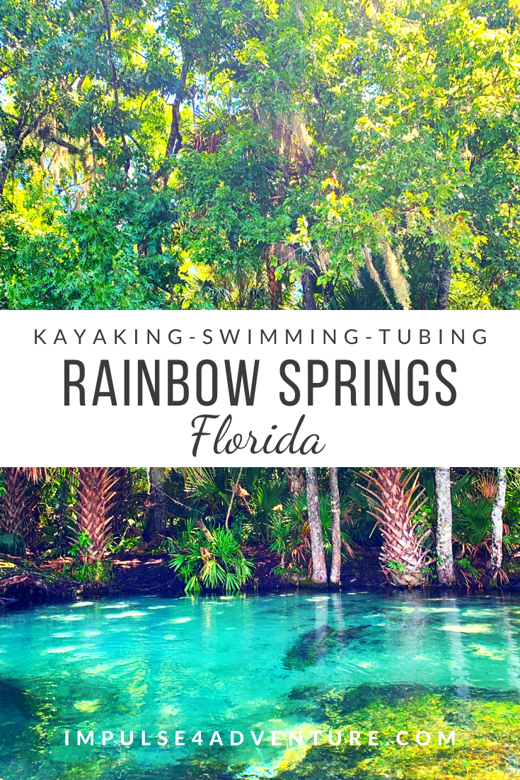 Visit Rainbow Springs State Park just a short drive from Orlando and Tampa for a fun weekend getaway or addition to any Florida vacation! This natural spring in central Florida has tons of activities that are perfect for the entire family. Try tubing, kayaking, swimming, snorkeling, or paddle down this crystal clear river with tons of wildlife in a beautiful natural setting. #thingstodo #floridasprings #rainbowriver